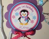 Jeweled Penguin Winter Onederland: Smash Cake Topper