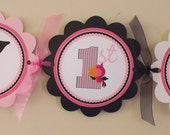 New...Pink Pirate Collection: Happy Birthday Banner