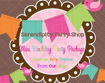 Fabulous Mini Birthday Party Package -Choose ANY Theme In Our Shop
