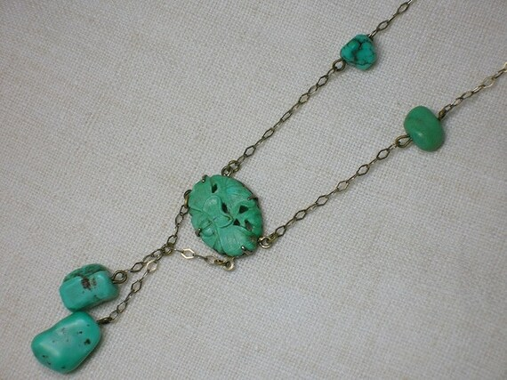 Antique Chinese Turquoise Necklace: Art Deco era