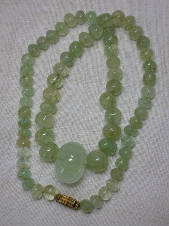 Aquamarine Bead Necklace: Natural Celadon Green Beauty
