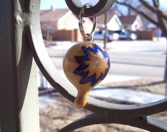 Bahai nine point star gourd key chain