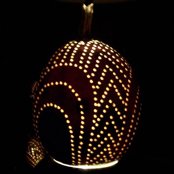Gourd Art Night Light with Cool LED Lumination