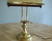 Vintage Brass Library Desk Lamp