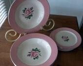 Lifetime China Pink Rose Pattern
