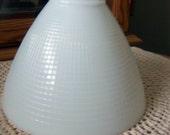 "Torchiere Milk Glass 8"" Shade"