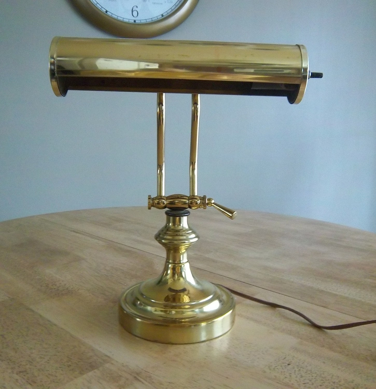 vintage brass library desk lamp. Black Bedroom Furniture Sets. Home Design Ideas