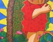 Mexican folk art Print: Virgen de mi Sufrimiento