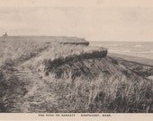 The Path to Sankaty, Nantucket post card. Gardiner, black & white.