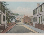 Union Street, Looking North, Nantucket post card. Gardiner, PHOSTINT