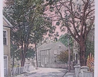 Union Street Curve, Nantucket Post Card, H. Marshall Gardiner.