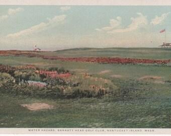 Water Hazard, Sankaty Head Golf Club, Nantucket post card. Gardiner, PHOSTINT