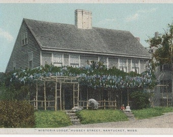 Wisteria Lodge, Nantucket post card. Gardiner, PHOSTINT