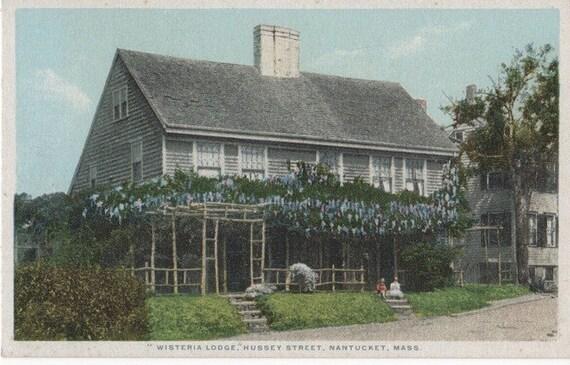Wisteria Lodge, Nantucket post card. Gardiner, PHOSTINT