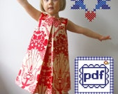 Pleat Dress PDF pattern Sizes 2T-6