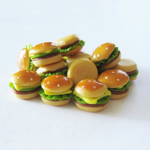 Cheeseburgers on Sesame Seed Buns Miniatures Qty. 5