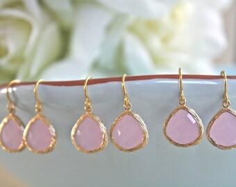 BRIDESMAID EARRINGS SALE, Bridesmaid Earrings Set of 3, Blush Bridesmaid Earring, Bridesmaids Jewelry, Bridesmaid earrings Bridesmaid gifts