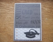 5 x 7 Silver and Black Graduation Card
