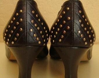 80s STUDDED PUMPS vintage 1980s heels sz 7