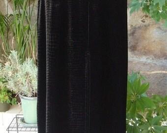 90s VELVET SNAKESKIN MAXI skirt  vintage S