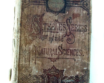 Antique Science / Physics / Philosophy Book with Gorgeous Pictures / Copyright 1869 and 1878/ 308 pgs