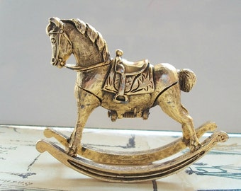Hard to Find Vintage Corday Miniature Perfume Solid Rocking Horse Collectible