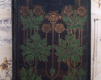 Antique Book / The Prince of the House of David / Colored Picture of Adina Signed by Artist / 1897 Henry Altemus /By  Ingram /Art Nouveau