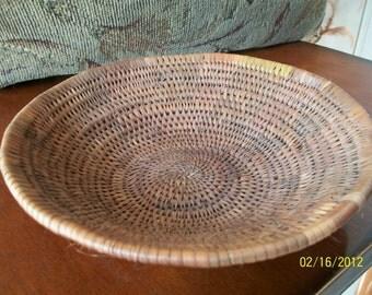 Handmade Antique Basketweave Indian bowl