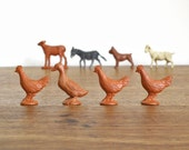 instant vintage rubber family of farm animals collection SUNNY SIDE