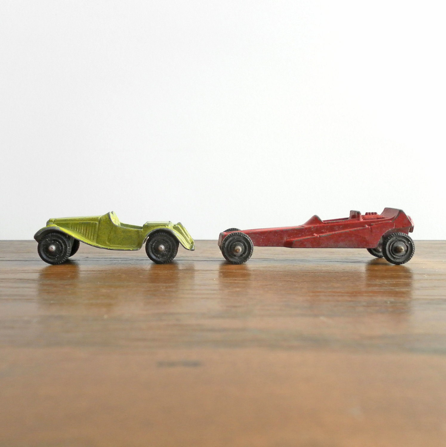 Vintage Metal Tootsie Toy Car Dragster Hot Rod Sports Car