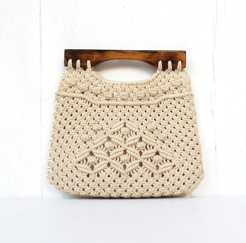 Vintage Folk Macrame Handbag Purse Philippines By Drvintage