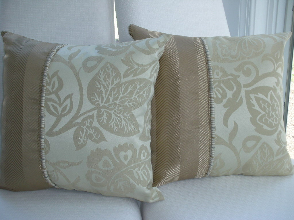 Throw Pillows Taupe : Beige Decorative Pillow Tan Pillow Taupe Pillow Brown