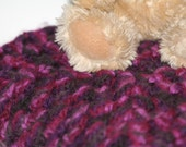 Newborn/Infant/Baby Swaddle, Receiving Lap or Crib Blanket Dark Light Purple Black -OOAK- One Of A Kind Ready To Ship Crochet