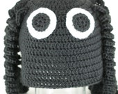 CLEARANCE SALE - Black Spider Sitting On My Head Hat - Toddlers 1-3 Years - OOAK Ready To Ship - Handmade & Crocheted