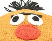 CLEARANCE SALE - Bert Hat - Sesame StreetSt/Muppets - Preteen/Tween/Teen -Ready To Ship - Handmade & Crocheted Crochet Customize Colors