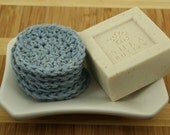 CLEARANCE SALE - Face Scrubbies Set of 6 - Scrubber, Make-up Remover, Bathroom, Eco-Friendly - OOAK Ready To Ship - Handmade & Crocheted