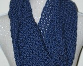 CLEARANCE SALE - Navy Blue Victoria Extra Large Scoop Cowl - Neck Warmer - Adults/Teens -Ready To Ship - Handmade & Crocheted