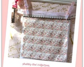 Doll House Fabric, Shabby Chic Roses and French Script
