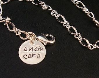 Anam Cara Sterling Silver Disk Friendship Bracelet