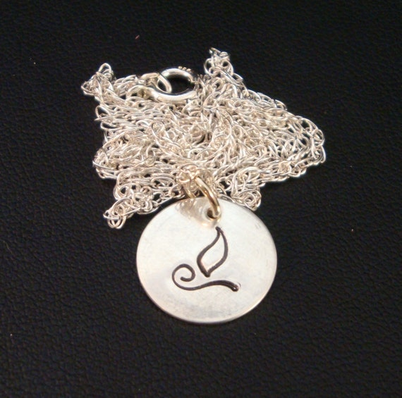 UU Chalice Necklace - Curl Design in Sterling Silver