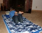Blue Camoflauge nap mat, play mat - Blue Camoflauge KidCozy