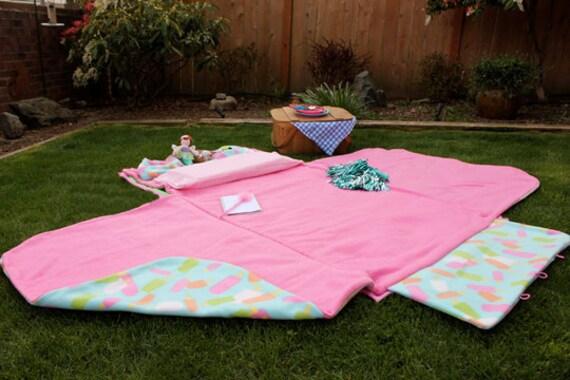 Popsicle play mat, picnic blanket, nap mat - Dreamsicle KidCozy