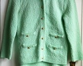 Mint knit 2 piece skirt & jacket set