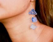 choose your color- sea glass dangles