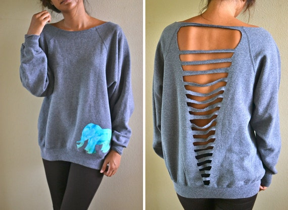 Elephant sweatshirt custom order
