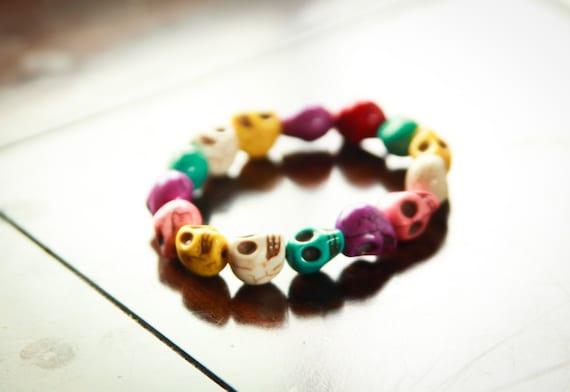 Pastel sugar skull bracelet
