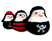 Amigurumi Pirate Nuns Matrioskas