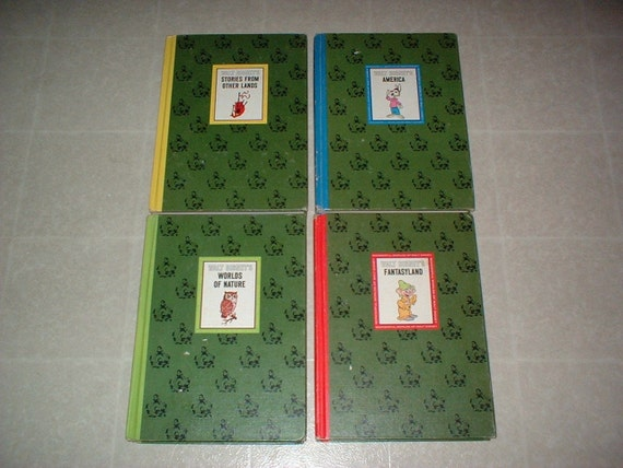 1965 The Wonderful Worlds of Walt Disney a 4 book set Nice Condition