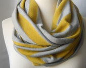 Infinity Scarf Yellow and Gray Jersey - Extra Wide