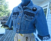 RESERVED FOR clrepass  Cute Restyled Jean Jacket Size Small
